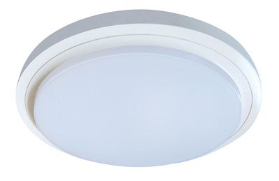 Button 15W Tri Colour Oyster Ceiling Light