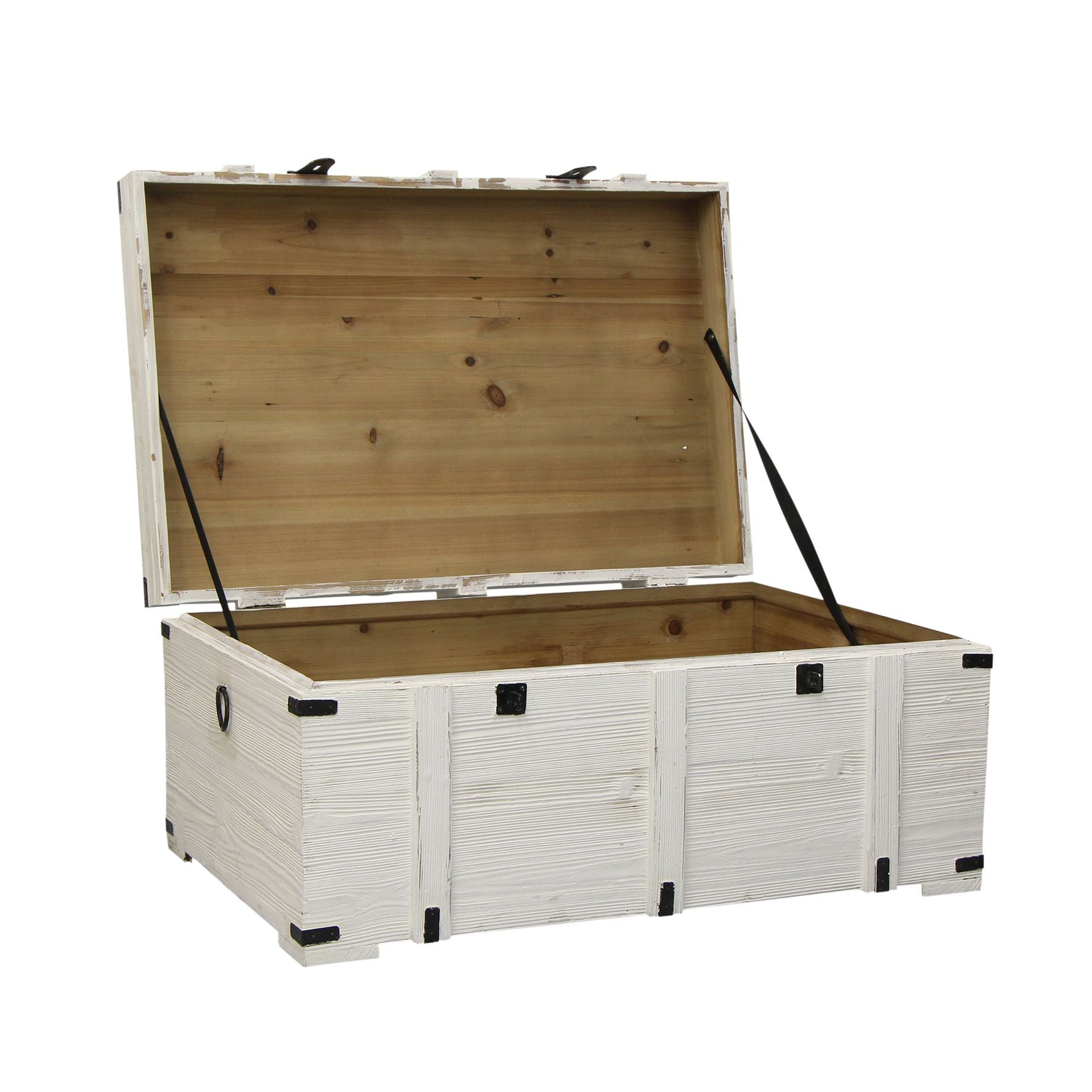 White Wood Storage Chest