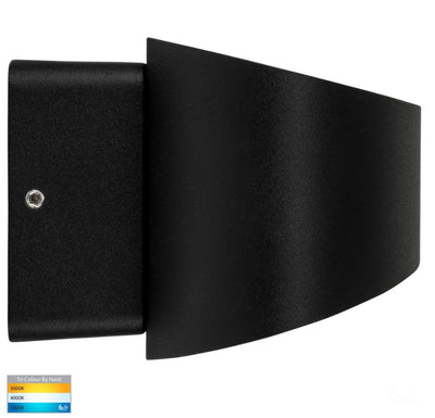 Luxe Black TRI Colour Up & Down LED Wall Light
