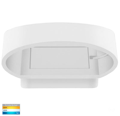 Luxe White TRI Colour Up & Down LED Wall Light
