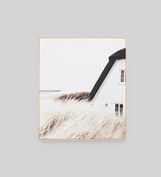 Fishermans Cottage Portrait Framed Canvas Wall Art