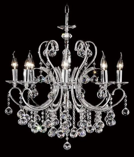 Dakota Chrome 8 Light Chandelier
