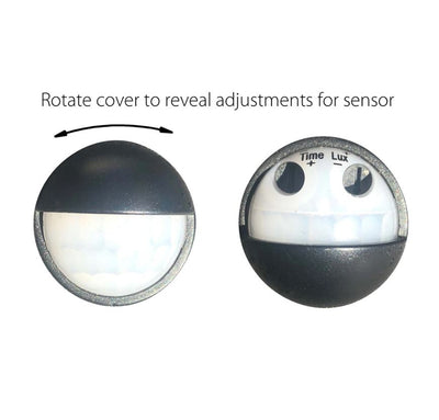 Revo Black Double Adjustable Wall Light With Sensor