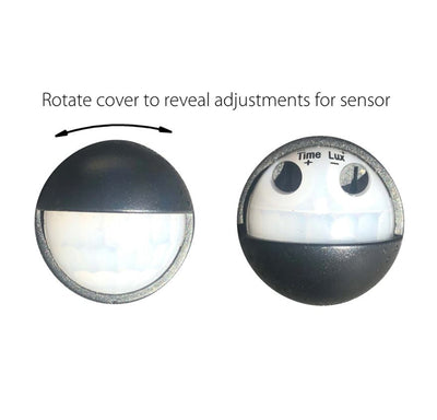 Revo White Double Adjustable Wall Light With Sensor