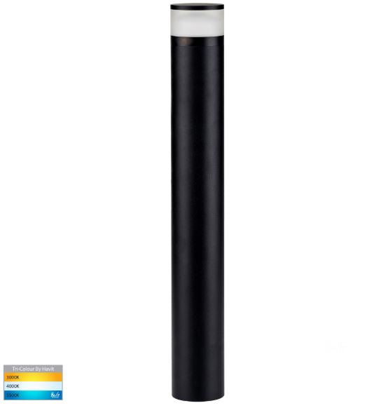 Highlite Black 1000mm LED Bollard Light