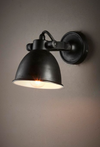Franklin Black Wall Light
