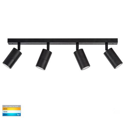 Tivah Black 4 Light TRI Colour LED Bar Lights