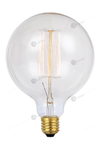 Vintage Spherical G125 25w Filament Lamp