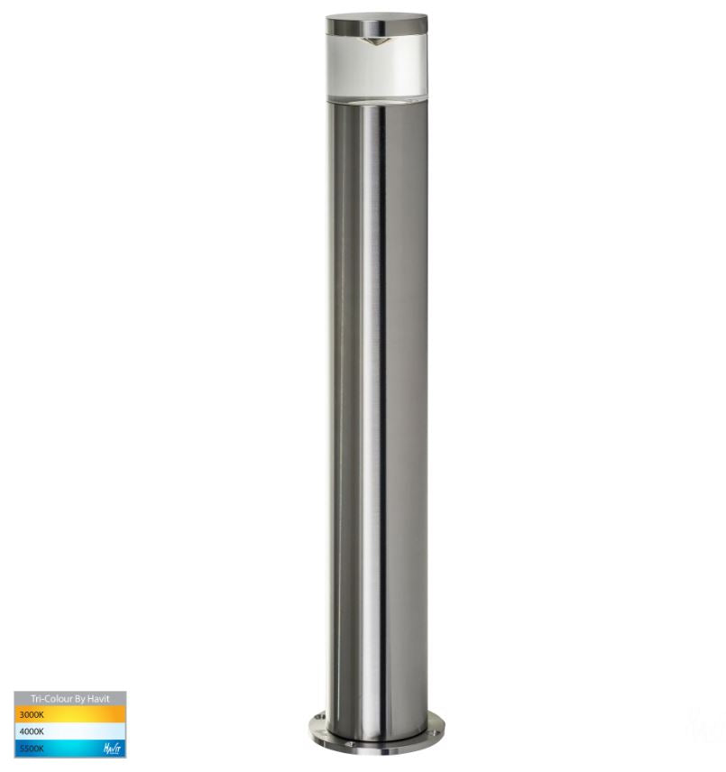 Highlite Titanium Aluminum TRI Colour LED Bollard Light