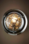 Greenwich Porthole Silver Wall Light