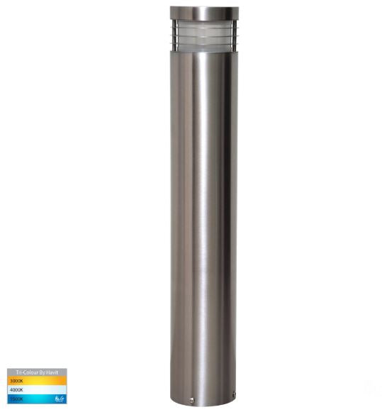 Maxi 600 316 Stainless Steel TRI Colour LED Bollard Light