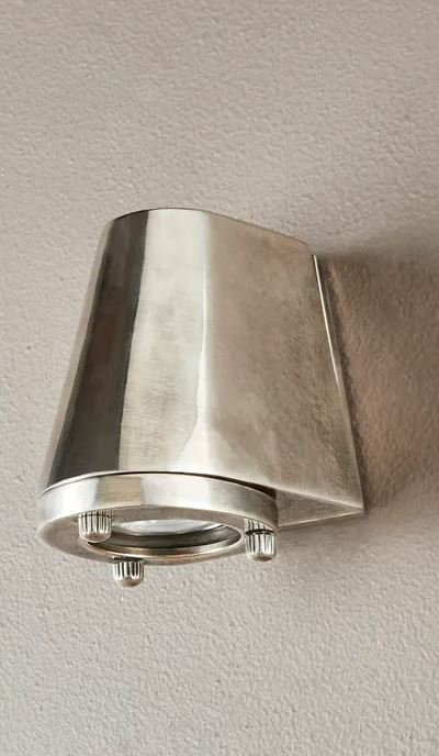 Island Antique Silver Wall Light