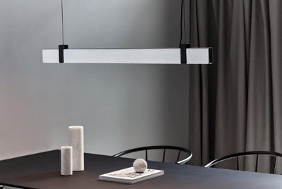 Lilt Brushed Steel Linear Pendant
