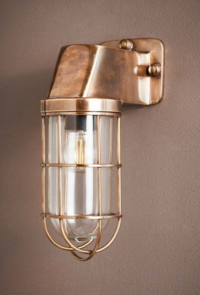 Lipa Antique Brass Wall Light
