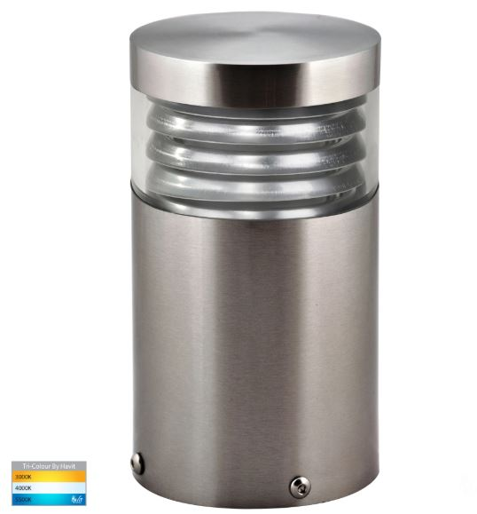 Mini 316 Stainless Steel Louvred LED Bollard Light