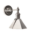 Marbel Shiny Nickel Sconce