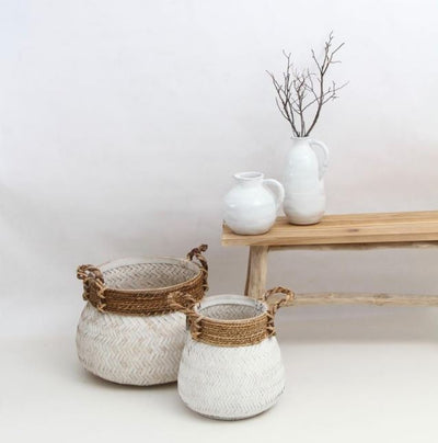 Marc Set of 2 Whitewash Harvest Baskets