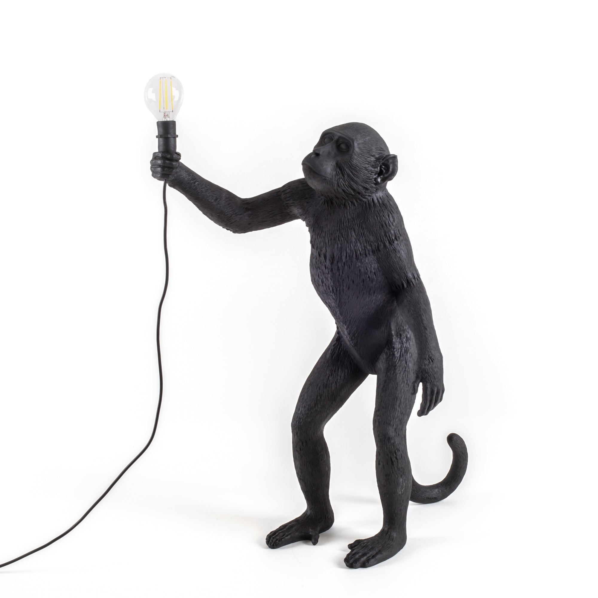 Standing Black Monkey Lamp