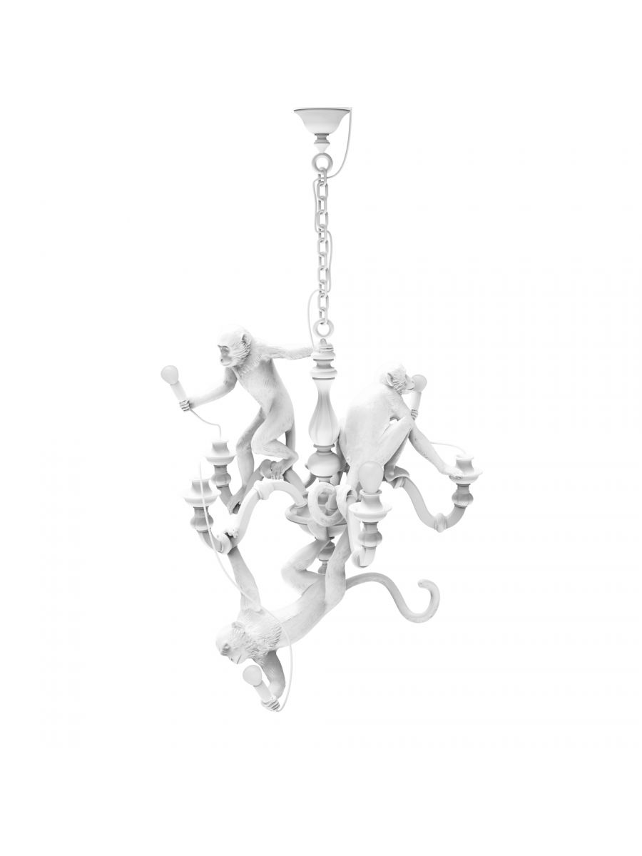 White Monkey Chandelier