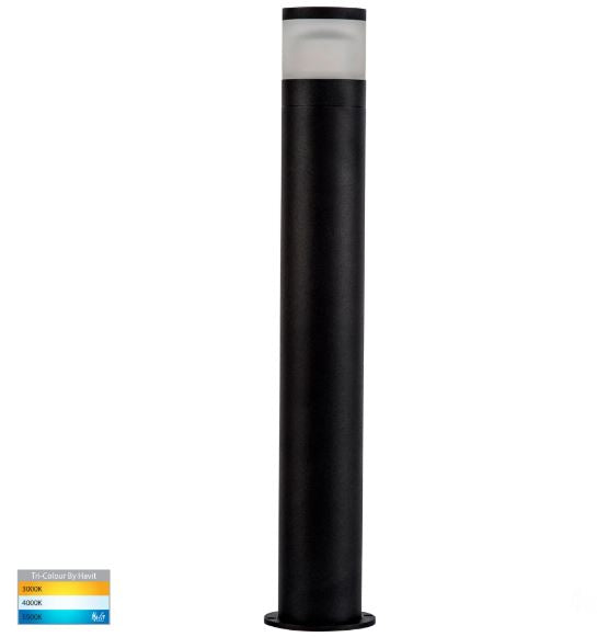 Highlite Black 464mm LED Bollard Light
