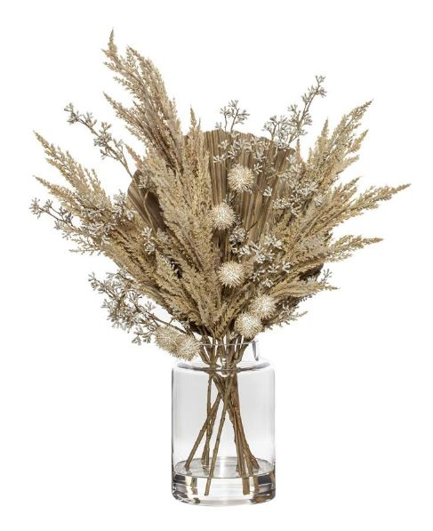 Pampas Fan Palm Mix Pail Vase
