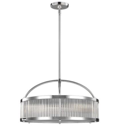 Paulson 6 Light Chrome Pendant