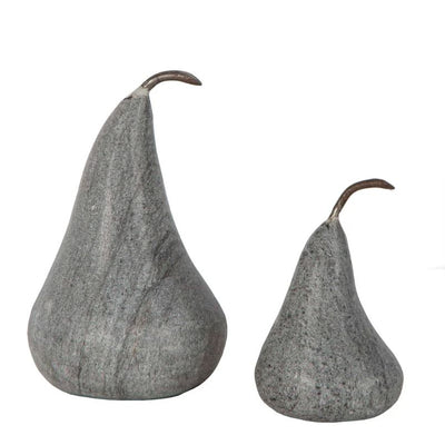 Marble Pear Small Grey