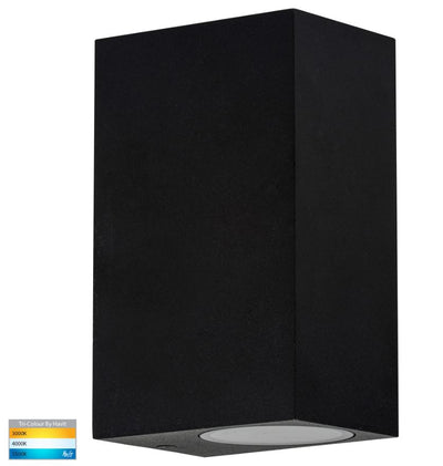 Accord Black TRI Colour Up & Down LED Wall Light