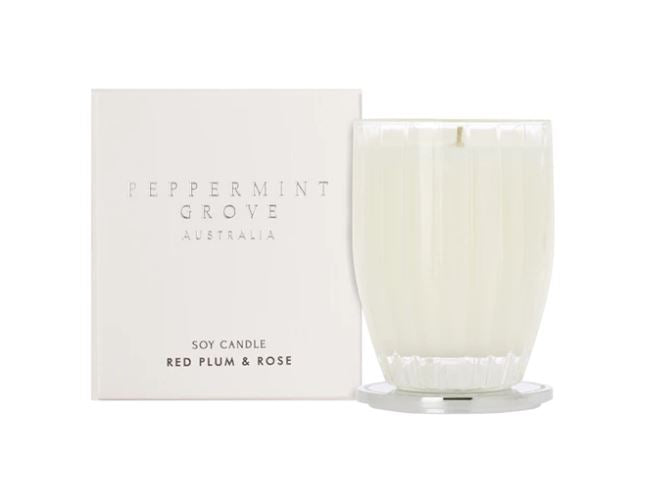Red Plum & Rose Mini Candle
