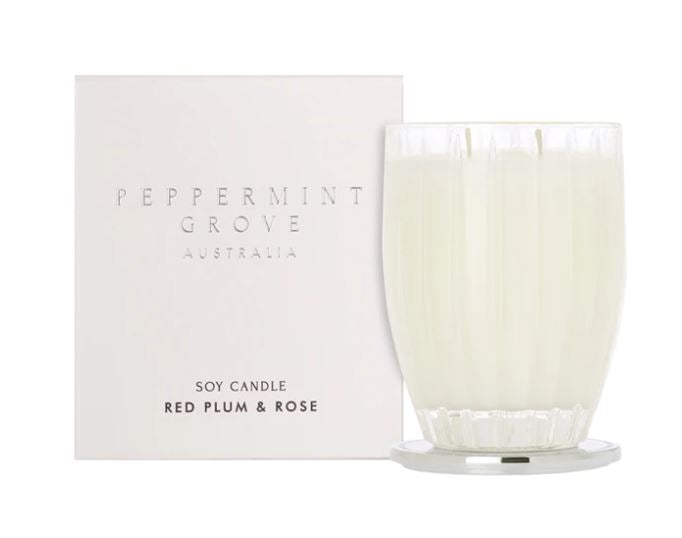 Red Plum & Rose Large Candle