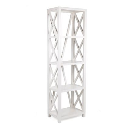 Cross Bookcase Shelf White Large