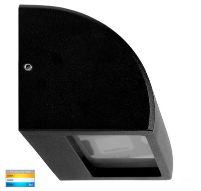 Ridge Aluminium Black LED Step Light