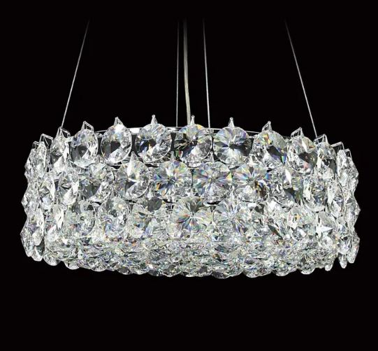 Dove Small Crystal Chrome Chandelier