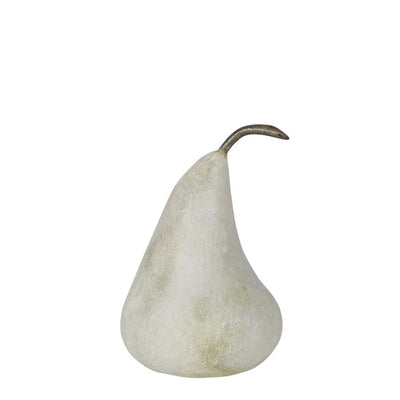 Marble Pear Small White