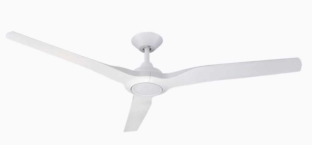 "Radical 2 White 60"" with Light Ceiling Fan"