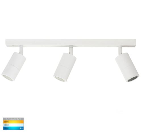 Tivah White 3 Light TRI Colour Bar Light