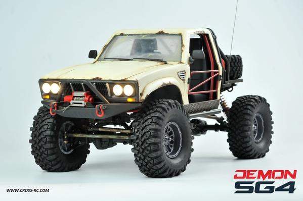 CROSS RC - SG4B DEMON 4X4 CRAWLER KIT, W/ HARD BODY, FULL INTERIOR  Best 1/10 SCALE