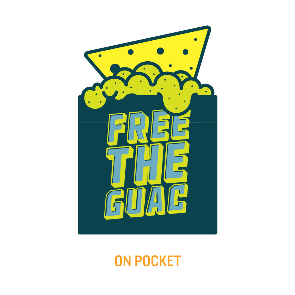 FREE THE GUAC POCKET TEE - UNISEX