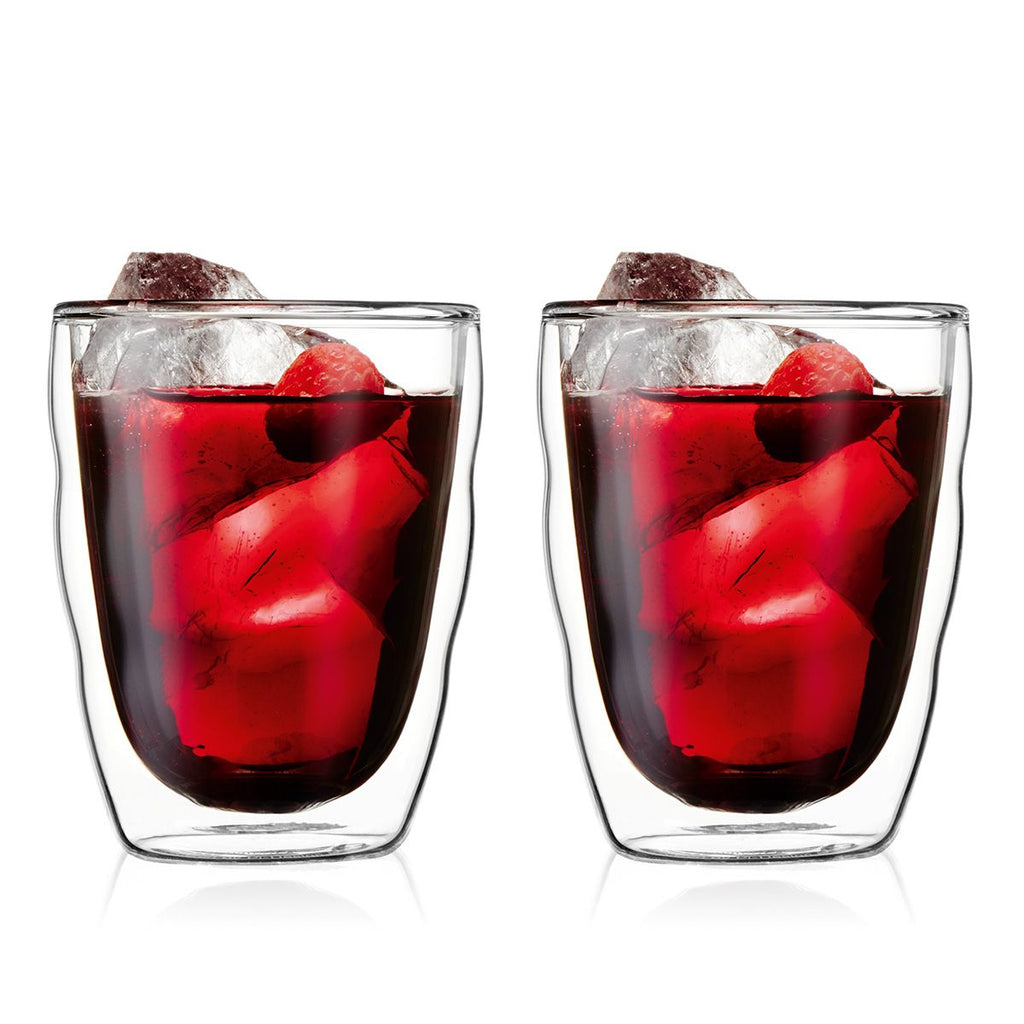 Bodum Pilatus Medium 0.35L Double Wall Glasses Set of 2