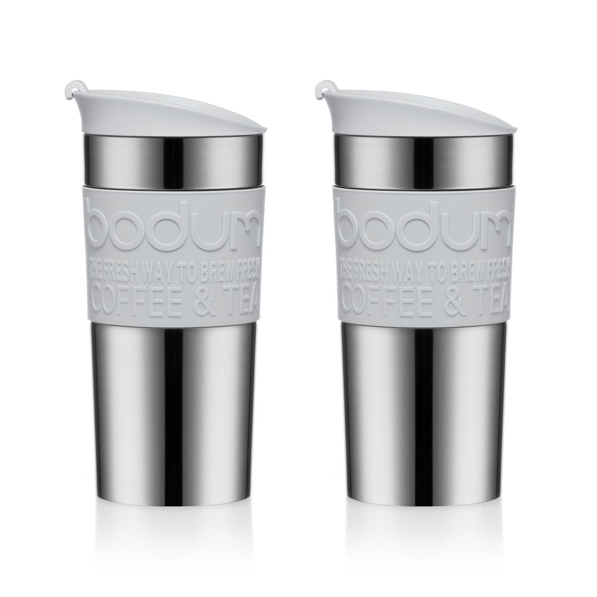 Bodum Travel Mug Stainless Steel 0.35L - Shadow Grey - Double Pack