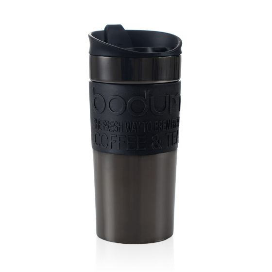 Bodum Travel Mug Stainless Steel Insulated 0.35L - Gun Metal Grey