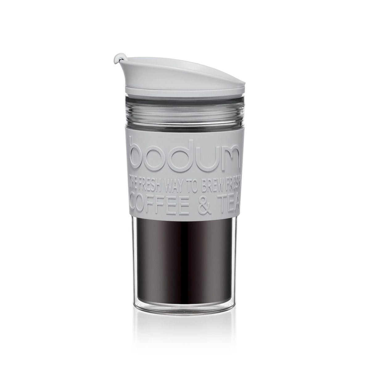 Bodum Travel Mug Acrylic 12oz - Shadow Grey - NEW 2020 Collection