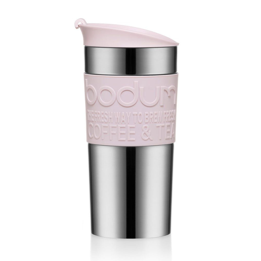 Bodum Travel Mug Stainless Steel 0.35L - Strawberry Pink - NEW 2020 Collection