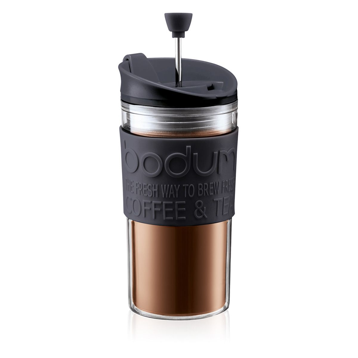 Bodum Travel Press Vacuum Acrylic Travel Mug / Cafetiere - 0.35L Black