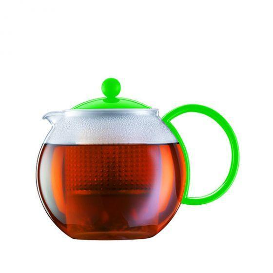 Bodum Assam Tea Press Large 1L with Infuser in Brilliant Green Tea Brewing Equipment BeanBear