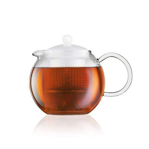 Bodum Assam Tea Press Large 1L with Infuser in Milk White