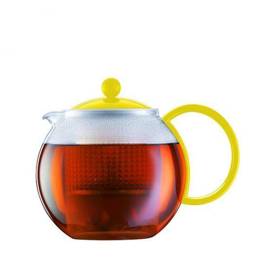 Bodum Assam Tea Press Large 1L with Infuser in Yellow Tea Brewing Equipment BeanBear