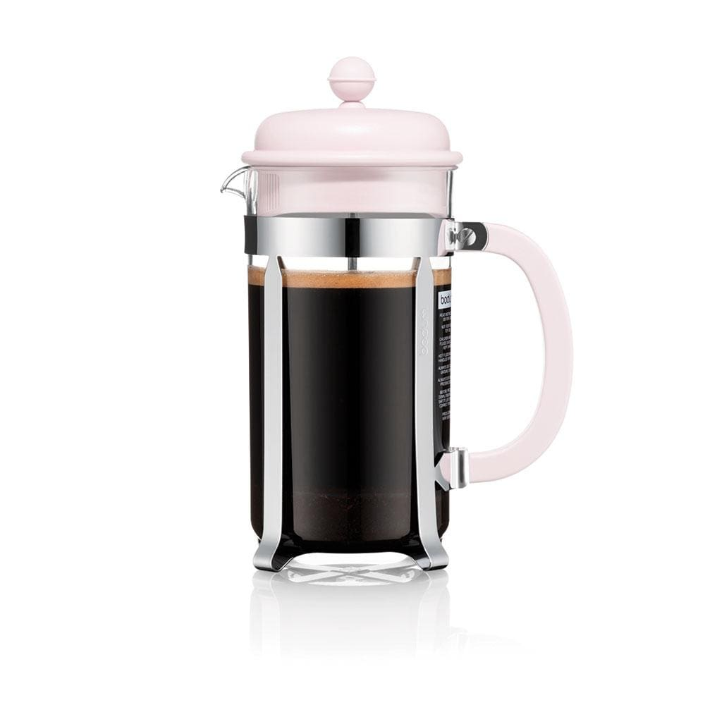 Bodum Caffettiera Coffee Maker, 8 Cup - Strawberry Pink - NEW Collection Coffee Making Equipment BeanBear