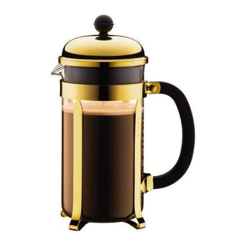 Bodum Chambord Coffee Maker 8 Cup - Gold Plated