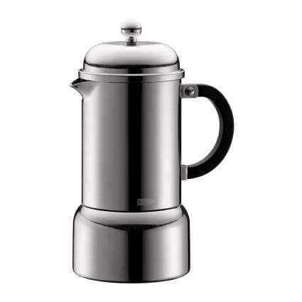 Bodum Chambord Espresso Maker, Stove Top, 6 cup - Stainless Steel Coffee Making Equipment BeanBear